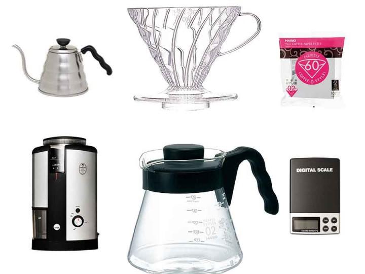 ポアオーバー、その他ドリップ方式でのコーヒーの淹れ方